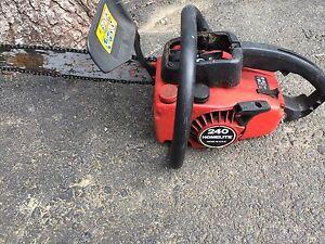 2 chainsaws both run