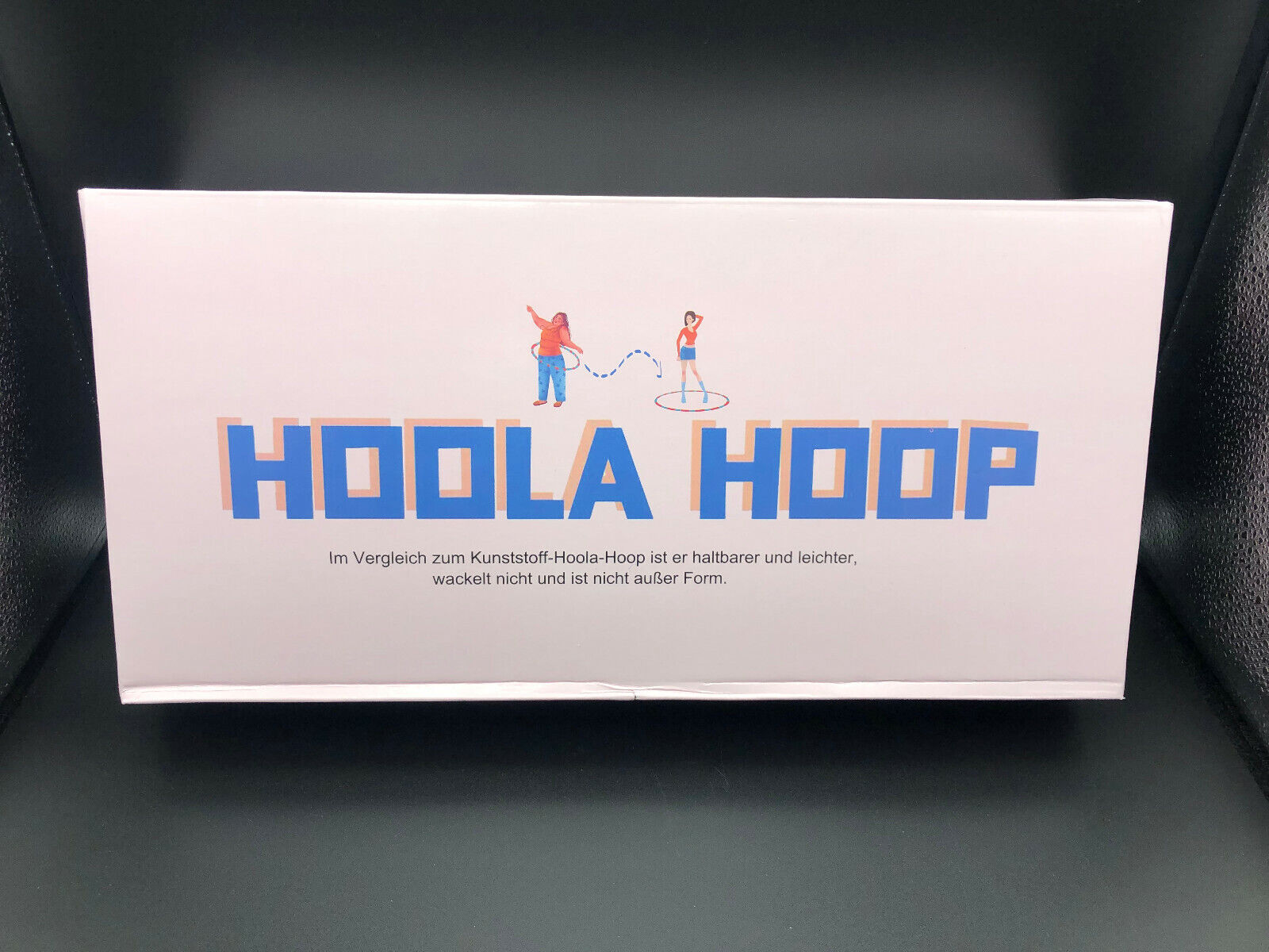 DUTISON Hula Hoop Reifen für Erwachsene | 1,2 kg | blau rosa / pink | zerlegbar