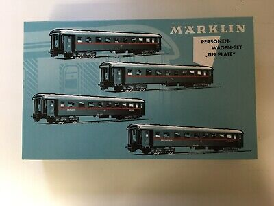 """MS-TOYS ! MÄRKLIN H0 Personenwagen-Set """"Tin Plate"""" 41921"""