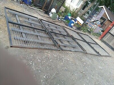 6m wide,bifold Steel site security gates,delivery available