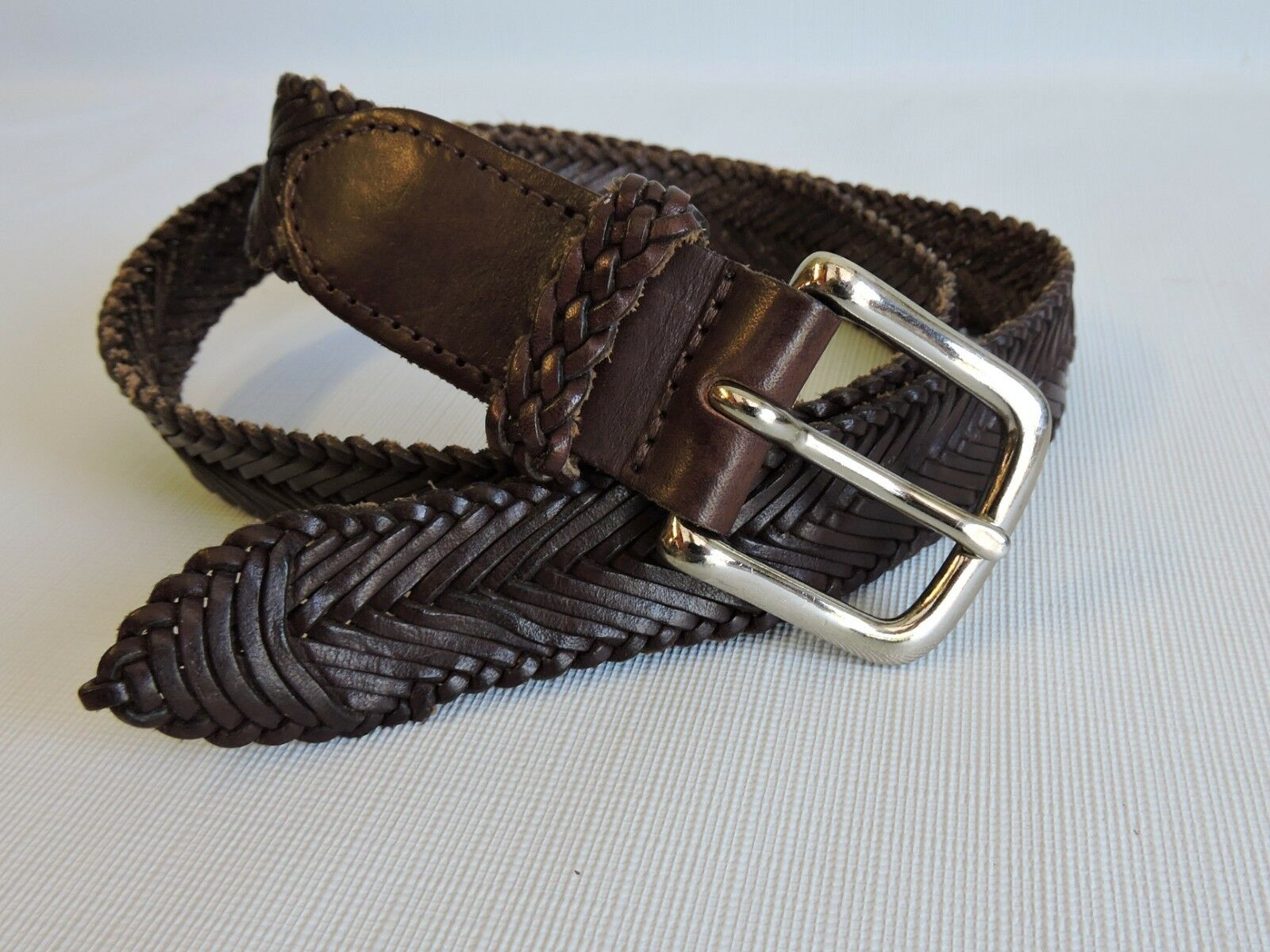 Banana Republic Brown Leather Belt Size XS Excellent Condition (A-36