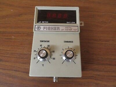 Fisher Ph Digital Meter Model 607 No Power Supply
