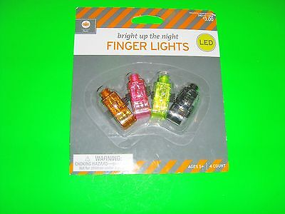 New 4 Counts Halloween Finger Lights Light up the night with 4 PK Finger Lights](Light The Night Halloween)