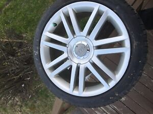 "2008 Audi S4 OEM 18"" ALLOYS w/ nearly new tires/ H&R Spacers"