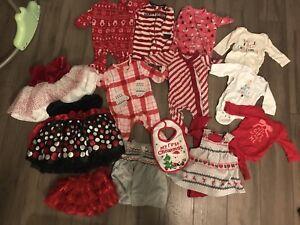 0-3 month girl Christmas lot