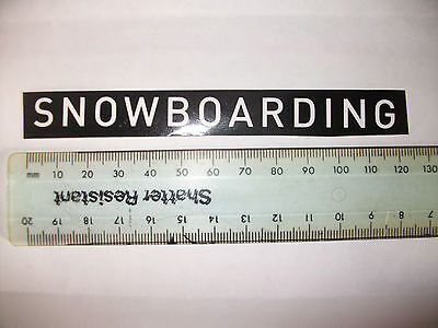 Snowboarding sticker / decal black and white 120mm / 12mm skateboarding retro
