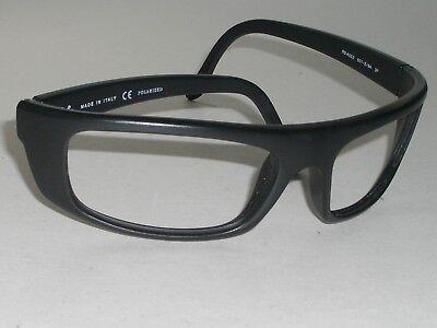 Ray-Ban Italien Rb4053 Dick Mattschwarz Sleek Wrap Sonnenbrille / Brille