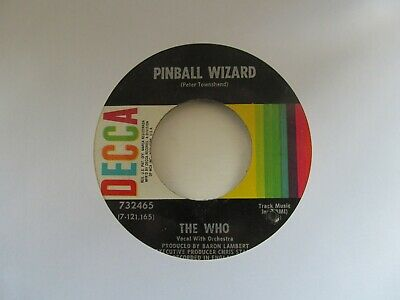 """THE WHO Pinball Wizard/Dogs Part Two USA 7"""" Single EX Cond"""