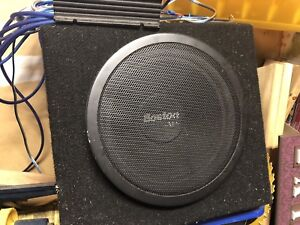 """Boston acoustics 10"""" sub and kenwood 250w amp"""