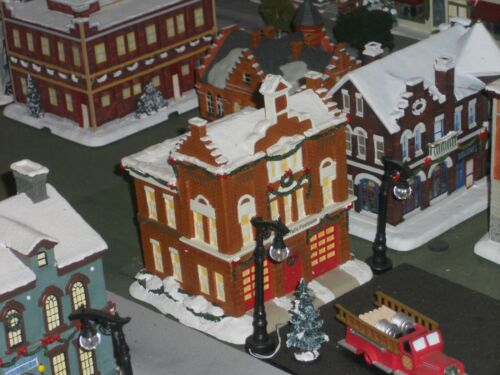 "hawthorne village its a wonderful life ""BEDFORD FALLS FIREHOUSE"""