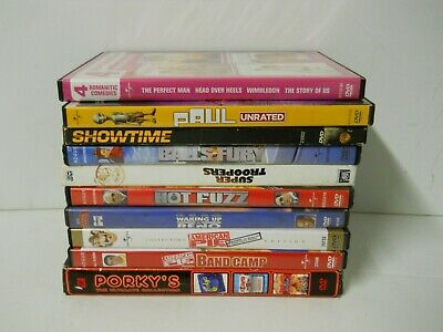 Adults Hot Movies (x10 Adult Comedy DVD Movies Porky's Hot Fuzz Super Troopers American Pie Paul)