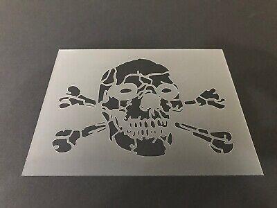 Skull #31 Stencil 10mm or 7mm Thick, Crafts, Skulls, Tattoo, Halloween, Bones](31 Halloween Crafts)