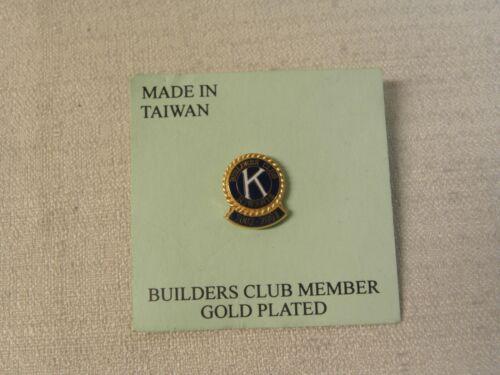 Pin Kiwanis Builders Club Member 2002 - 2003 Gold Plated