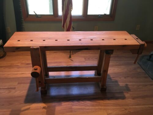VINTAGE SMALLER Carpenter Workbench / Musical Instrument Workbench
