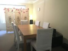 GREAT COND WOOD EXTENDABLE DINING TABLE + 6 FREE CHAIRS WHITE Bertram Kwinana Area Preview