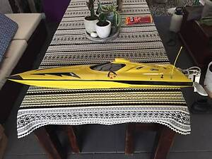 """Fast Electric Rc boat Delta Force 67MK2 42"""" mono Banyo Brisbane North East Preview"""