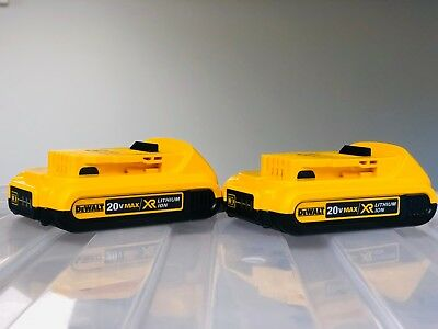 (2-PACK) DEWALT 20V 20 Volt Max Lithium-Ion Battery Packs Model DCB203 2018 DATE