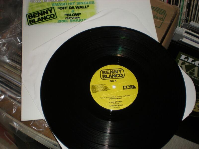Benny Blanco Off Da Wall VINYL Blow feat 2 Pac Shakur