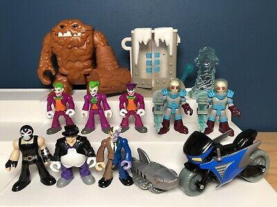 Lot of Imaginext Figures DC Villains Clayface Freeze Penguin Twoface Joker Bane