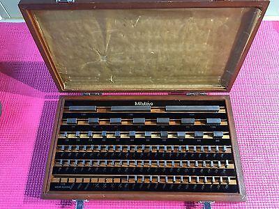 Mitutoyo 81 Pc. Gage Block Set Be1-81-2 Grade 2 516-902 Machinist Tools