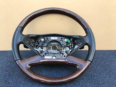 2010-2013 ✔ Mercedes W221 W216 S63 CL63 AMG Sport Leder Holz Lenkung Rad OEM