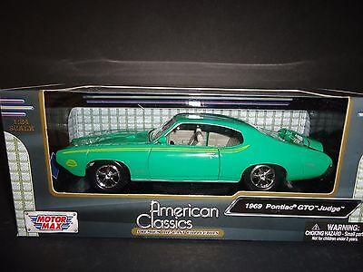 Motormax Pontiac Gto Judge 1969 Green 1 24