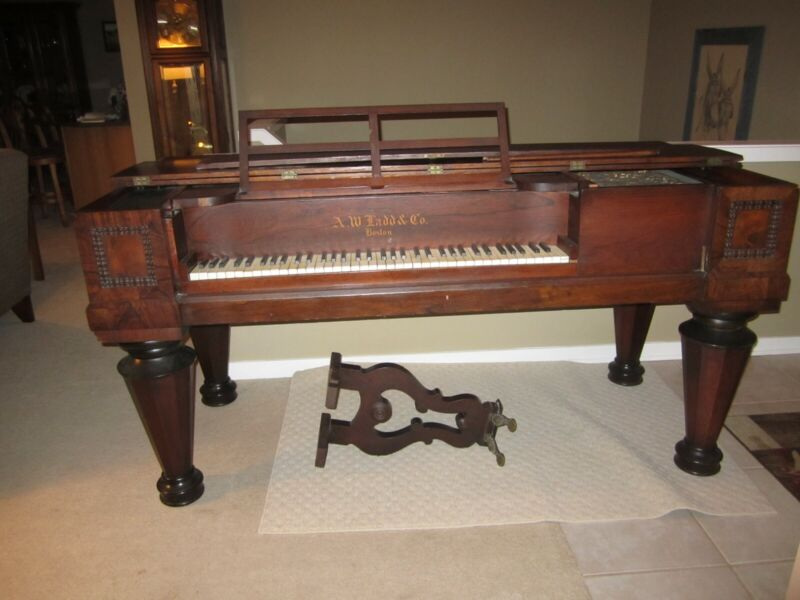 Antique Square Grand Piano,  A. W. Ladd, Model