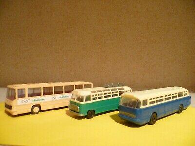 Brekina H0 3x DDR Ikarus -Busse gebraucht ohne Karton online kaufen