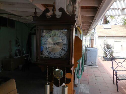 Vintage HAMILTON 31 Day Pendulum Wall Clock Converted to quartz, WORKS