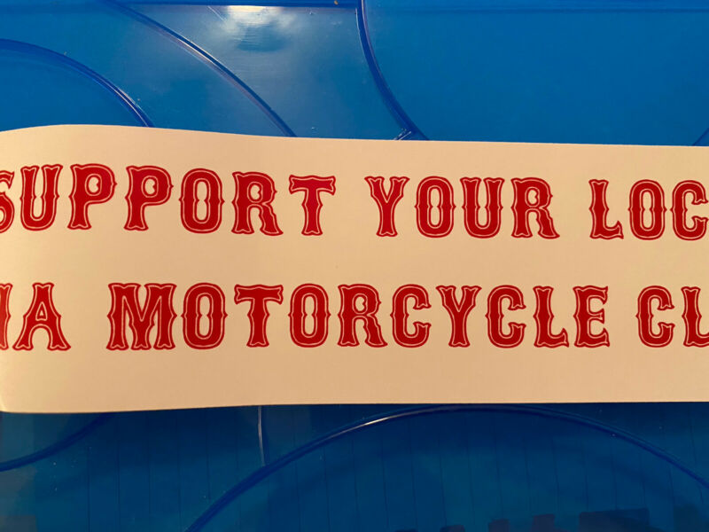 Hells Angels Motorcycle Club Sticker - Support Your Local Hells Angels