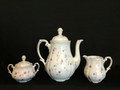 Triptis Rare Vintage Porcelain German Tea Set - Teapot, Sugar and Creamer