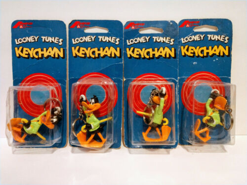 Looney Tunes Keychain (Daffy Duck) Lot of 4 NEW