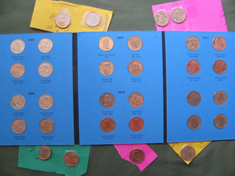 Presidential Coins US All 2007-2011 +4 Abraham Lincolns +2 George Washington +6