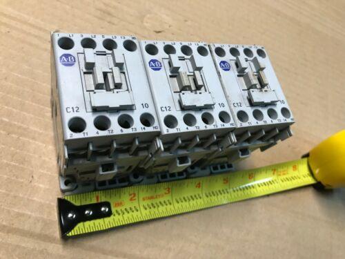 Allen Bradley 100-C12*10 ser A contactor C12D10 motor starter 110 120 v ac coil