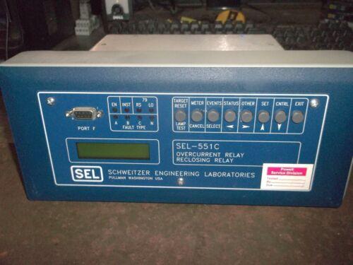 SCHWEITZER SEL-551C OVERCURRENT RECLOSING RELAY 0551C0BX533X (M4)