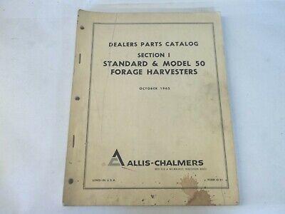 Allis-chalmers Standard Model 50 Forage Harvester Dealers Parts Catalog
