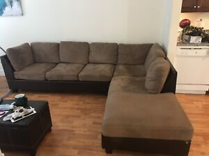Selling brown sectional! $200 OBO