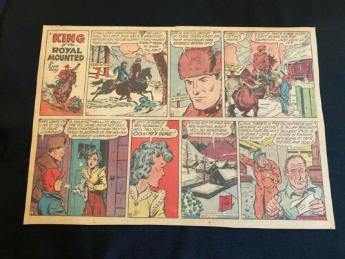 #03 KING OF THE ROYAL MOUNTED by Zane Gray  Sunday Comic  March 13, 1949