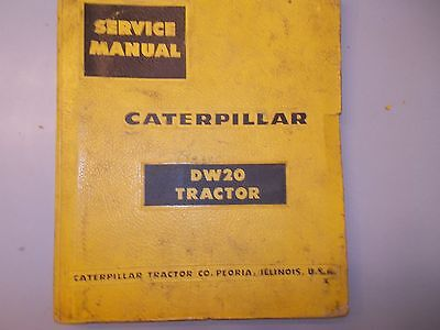 Cat Caterpillar Dw20 Wheel Tractor Scraper Shop Service Repair Manual