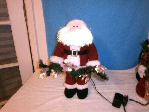 """Vintage Fiber Optic Santa, 16"""" tall"""