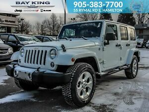 2014 Jeep Wrangler 4x4, REMOTE START, SOFT TOP, NAV, LEATHER HEA