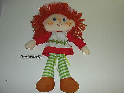 "Vintage 1980 Strawberry Shortcake Plush Toy 15"" Stuffed Rag Doll Kenner Yarn HTF"
