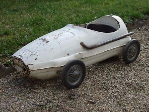 rare ancienne voiture a pedale maserati giordani 1960 autosprint pedal car ebay. Black Bedroom Furniture Sets. Home Design Ideas