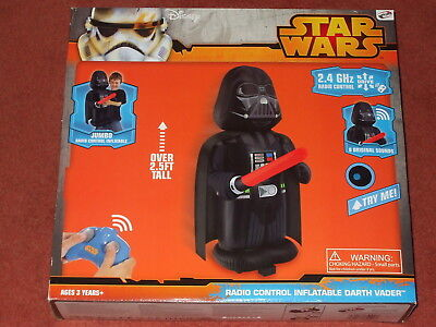 Star Wars RC Remote Control Jumbo 2ft  Inflatable Darth Vader Brand New in Box