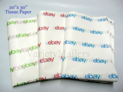 "25 Large Sheets of 20""x 30"" eBay Branded Tissue Paper ~ Free Shipping!"