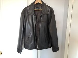Men's genuine leather jacket by Guess