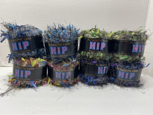 Lot Of 8 Skeins Of Plymouth Yarn HIP Italian Collection - Different Colors. - $12.50