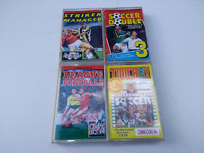 COMMODORE 64 c64 Soccer football manager touchdown Bundle vintage games x4