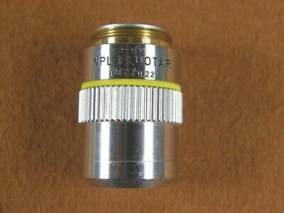 Leitz Wetzler Npl Fluotar 10x .22 Microscope Objective Lens Infinity