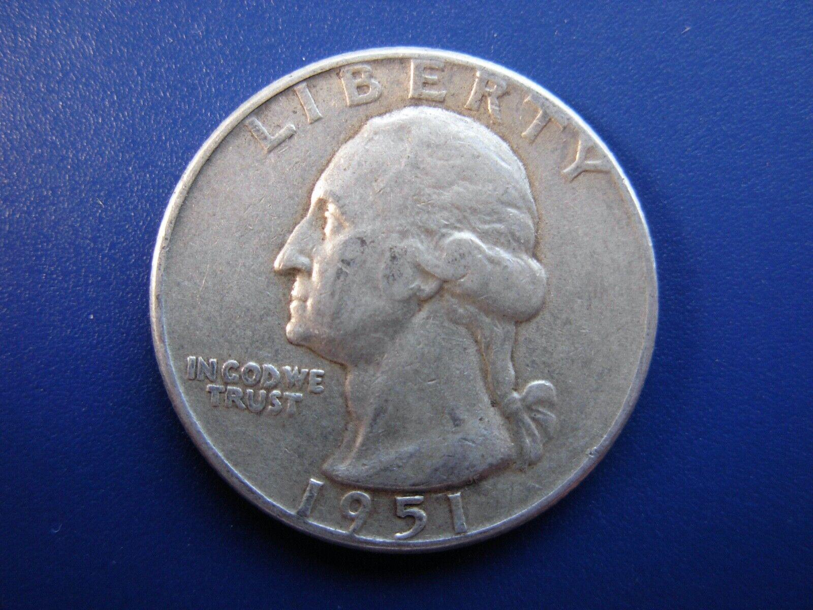 Very Nice Original 1951 VF Washington Quarter. 3 - $6.65